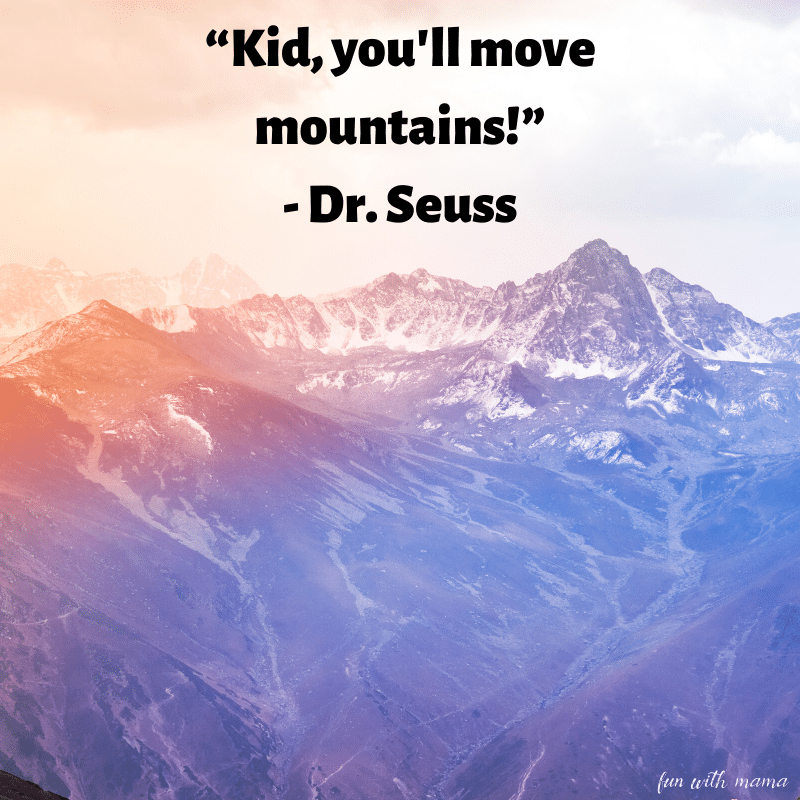 you'll move mountains