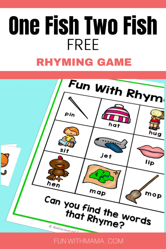One Fish Two Fish rhyming game