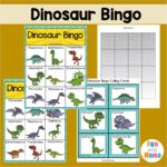 Dinosaur Bingo Printable Game For Kids