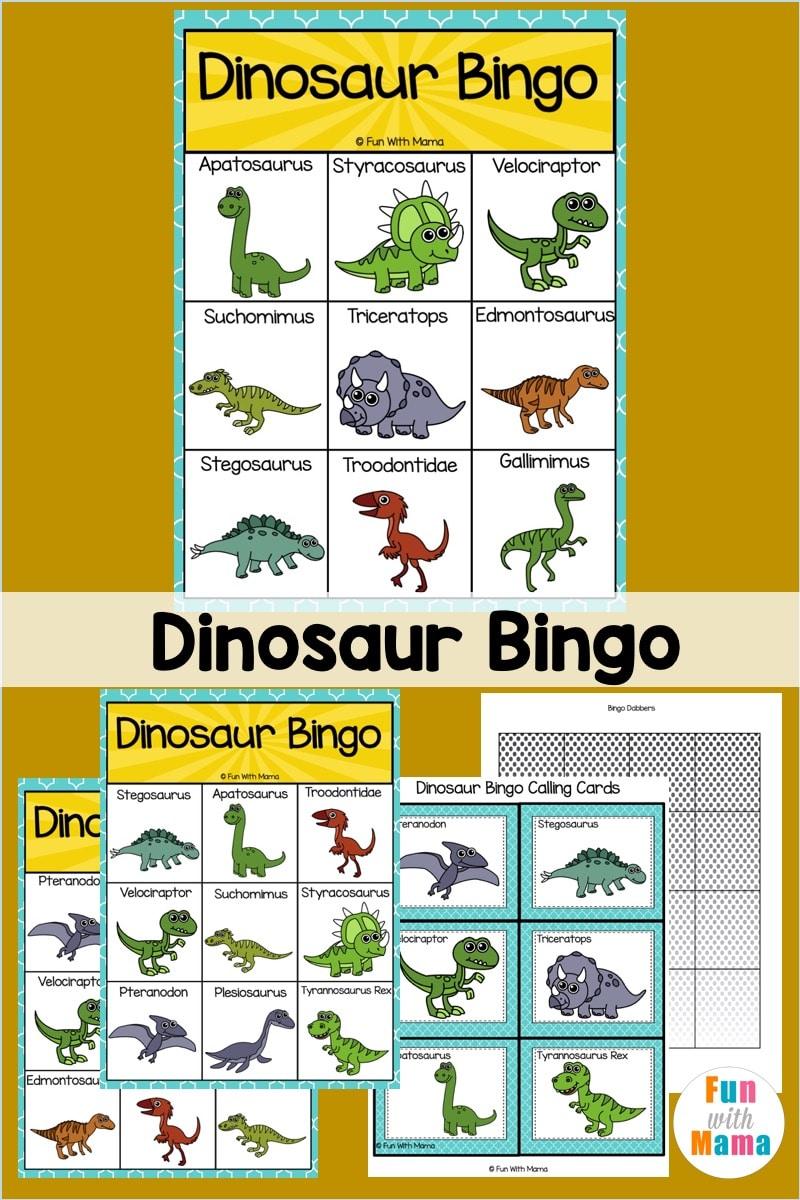 Dinosaur Bingo printable