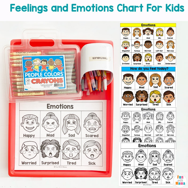 emotion chart for kids