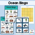 Ocean Animal Bingo For Kids