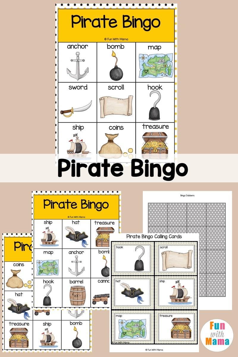 pirate bingo printable for kids