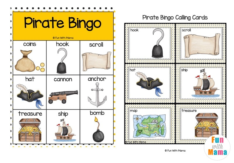 printable bingo card for kids