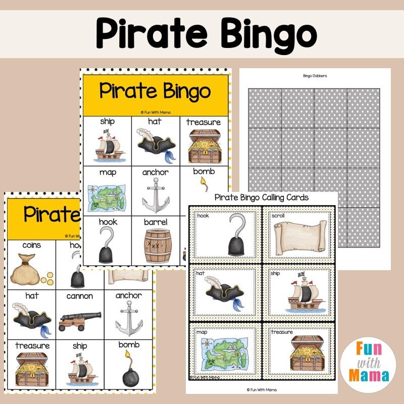 bingo card template for kids