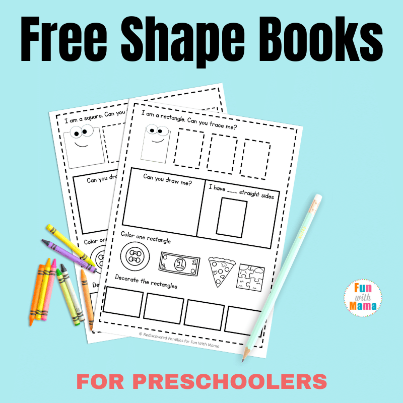 My Printable Book Of Shapes: An Activity For Preschoolers - Fun With Mama