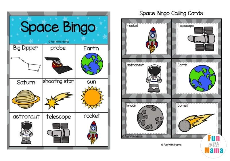 Space Bingo Game - Fun Space Activities for Kids