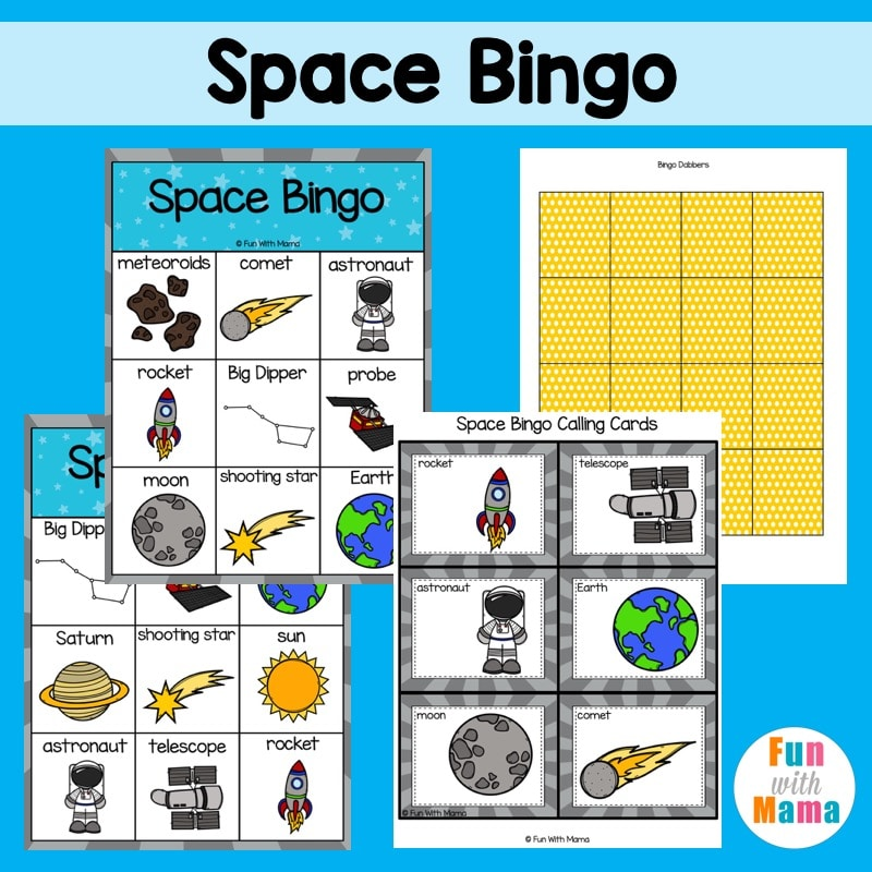 Space Bingo Game - Fun Space Activities for Kids