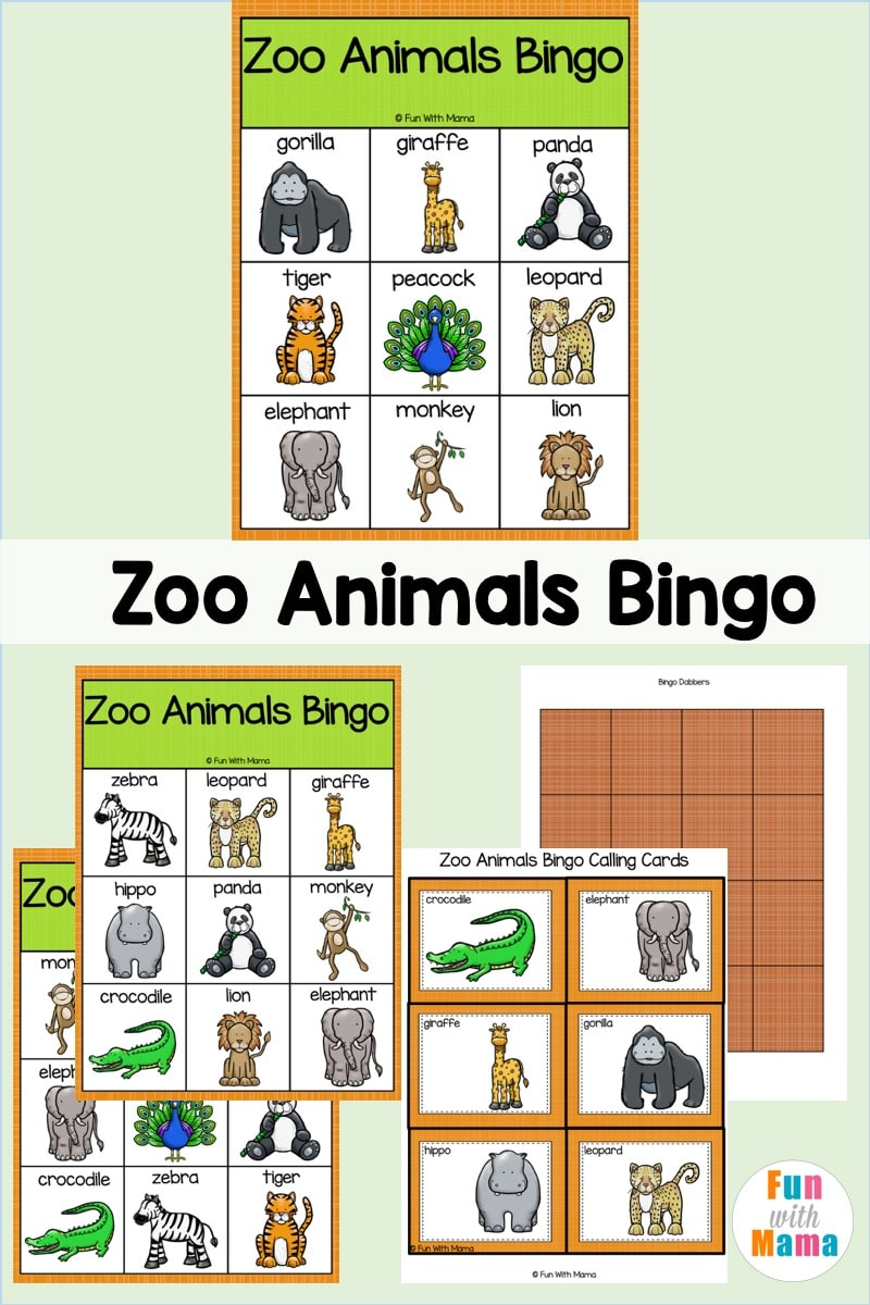 animal bingo game
