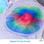 Kids Tie Dye Shirts Using Sharpies