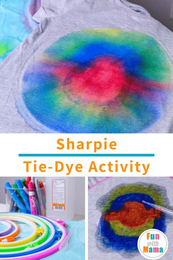 Kids Tie Dye Shirts Using Sharpies