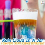 Rain Cloud In A Jar Science Experiment