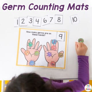 germ counting mats