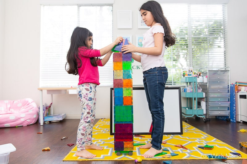building and creating together at home