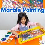 Marble Painting For Kids – Messy Play Art Indoor Fun
