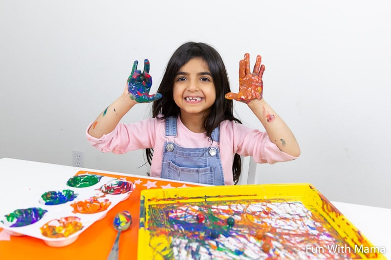 messy play art ideas