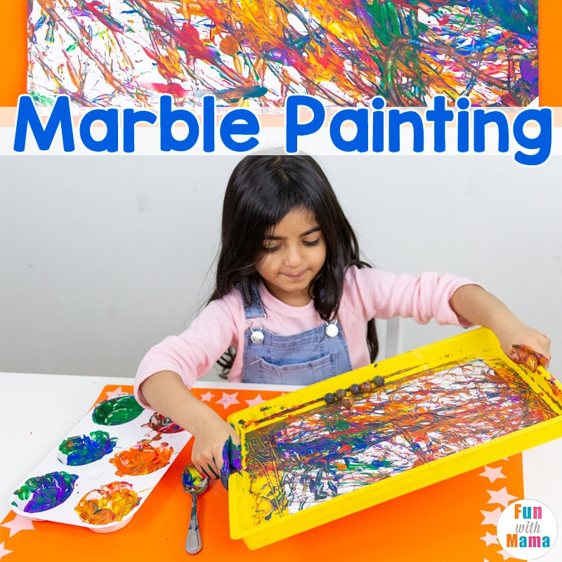 marble art painting for kids