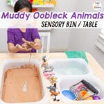 Muddy Oobleck Sensory Table With Animals