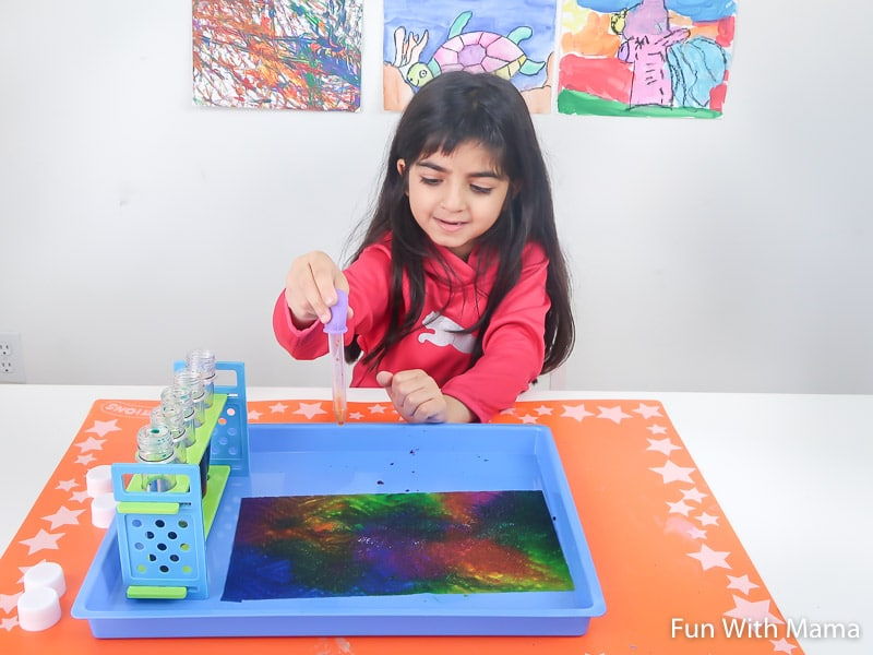 Paper Towel Painting - Easy Painting for Kids
