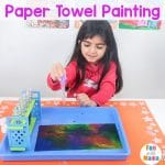 Paper Towel Painting – Easy Painting for Kids