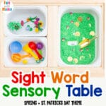 Sight Word Practice Sensory Table Bin