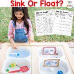 Sink Or Float Experiment + Worksheet