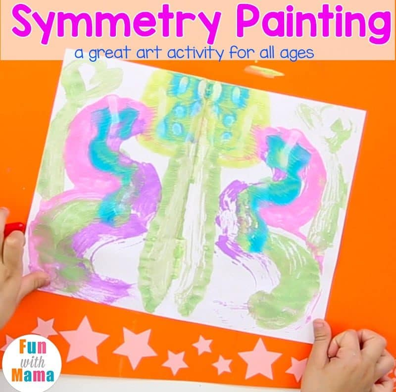 symmetry painting for kids
