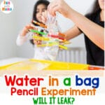 Water In A Bag Pencil Experiment – Water Experiment for Kids