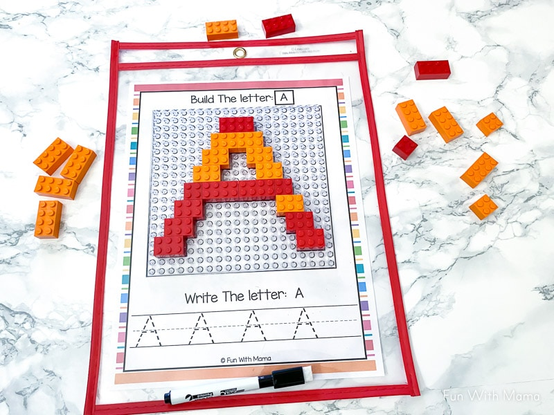 preschool lego letter activity