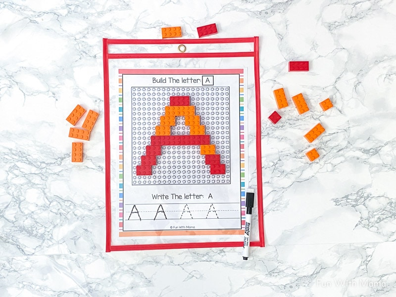 letter a lego learning