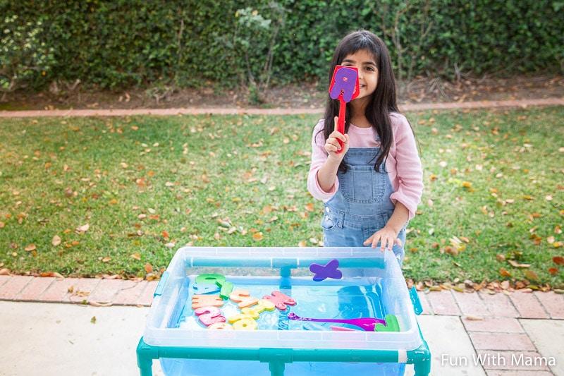 alphabet water play