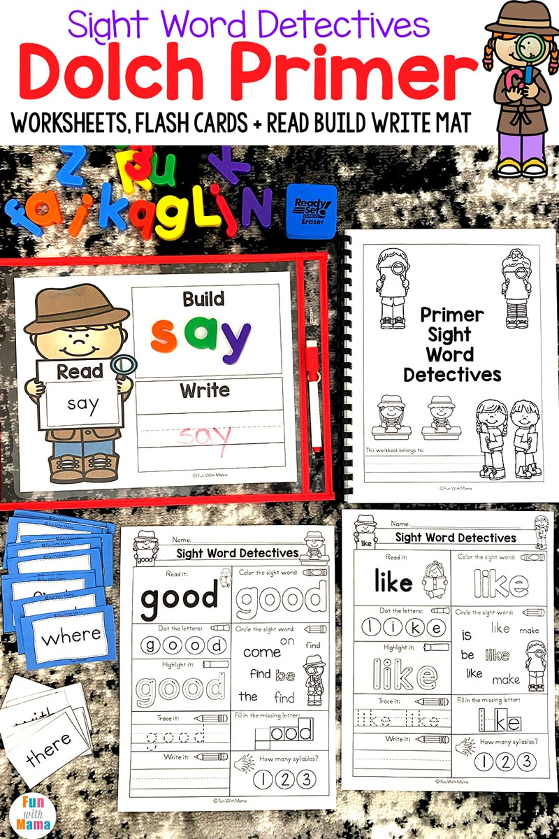 Kindergarten Sight Words - Dolch Primer