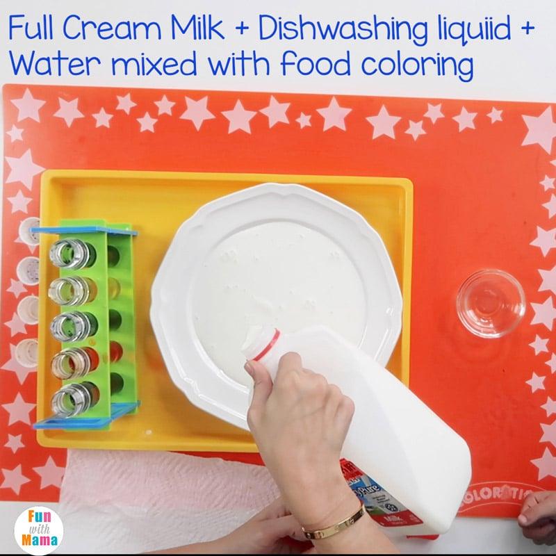 milk food coloring experiment