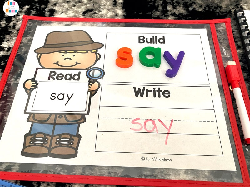 sight words for Kindergarten