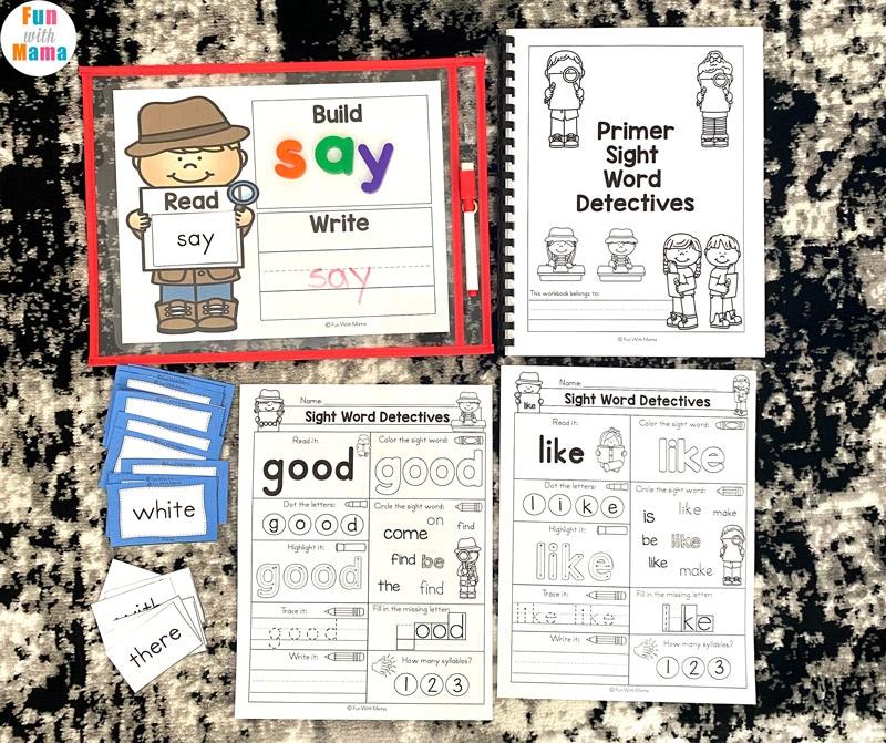 primer sight word kindergarten learning