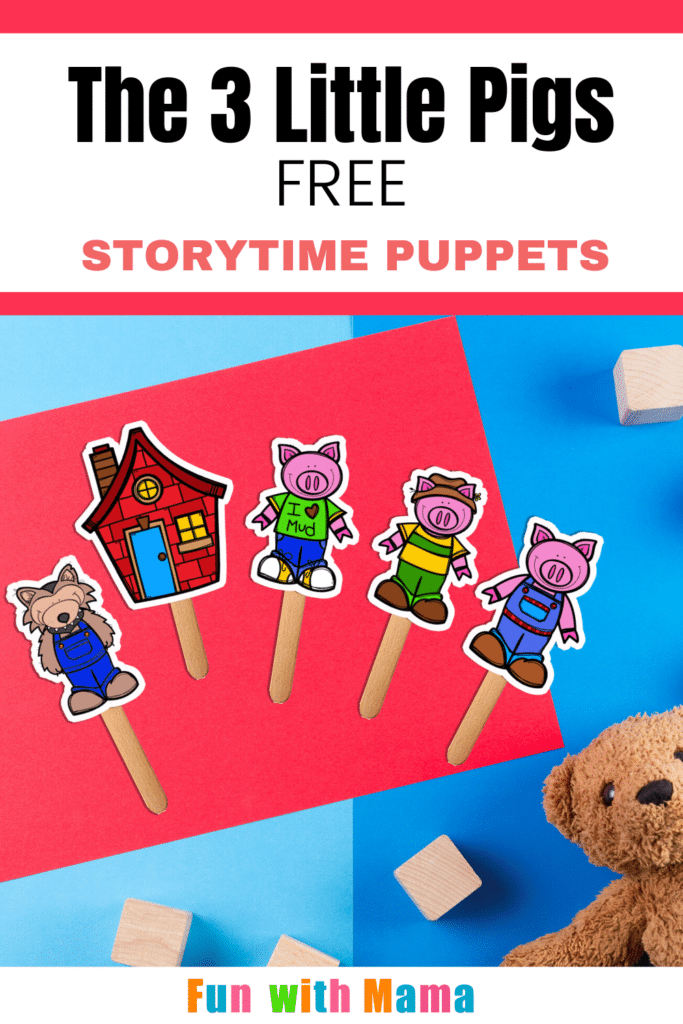 Stick Puppets on colorful background