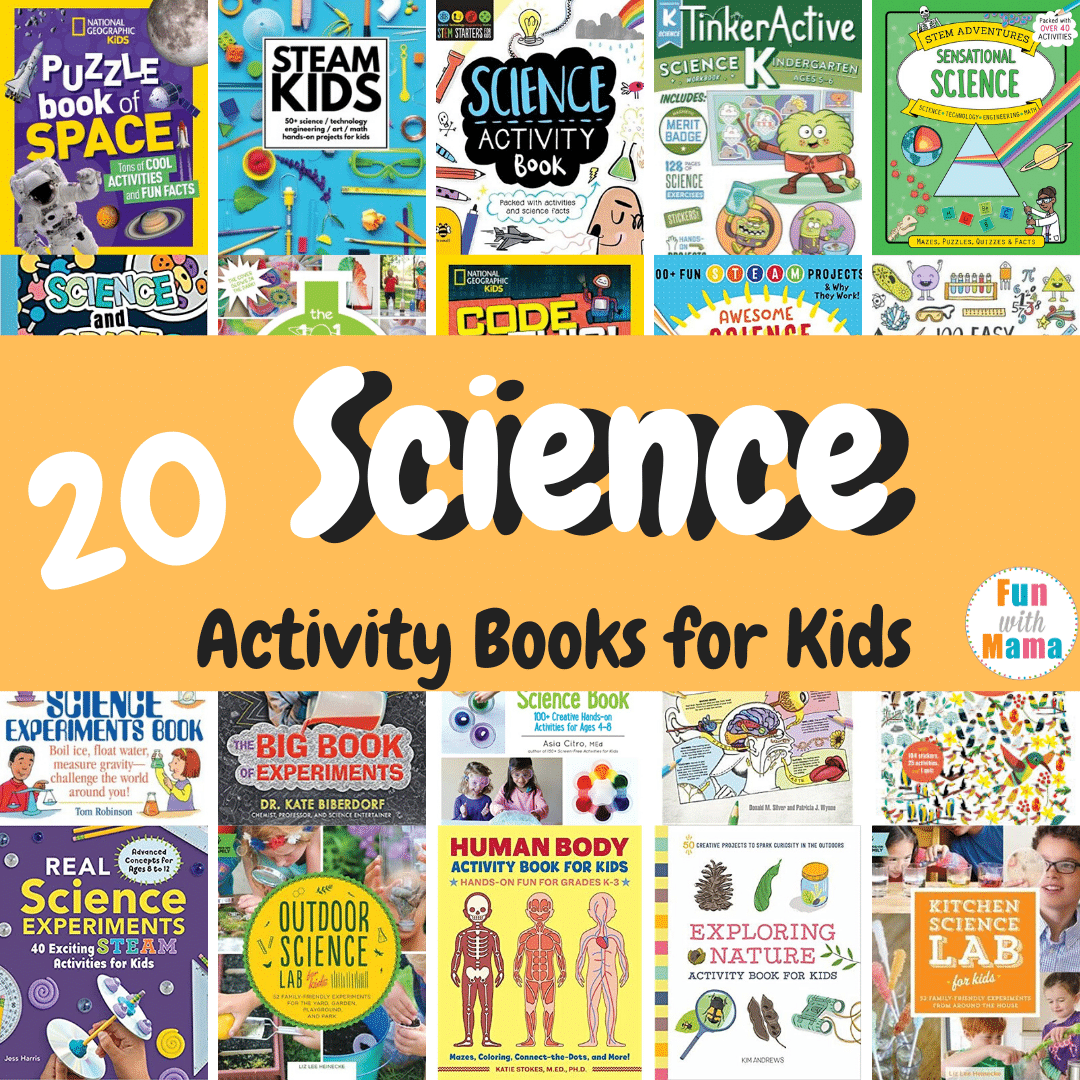 big list of science books for kids