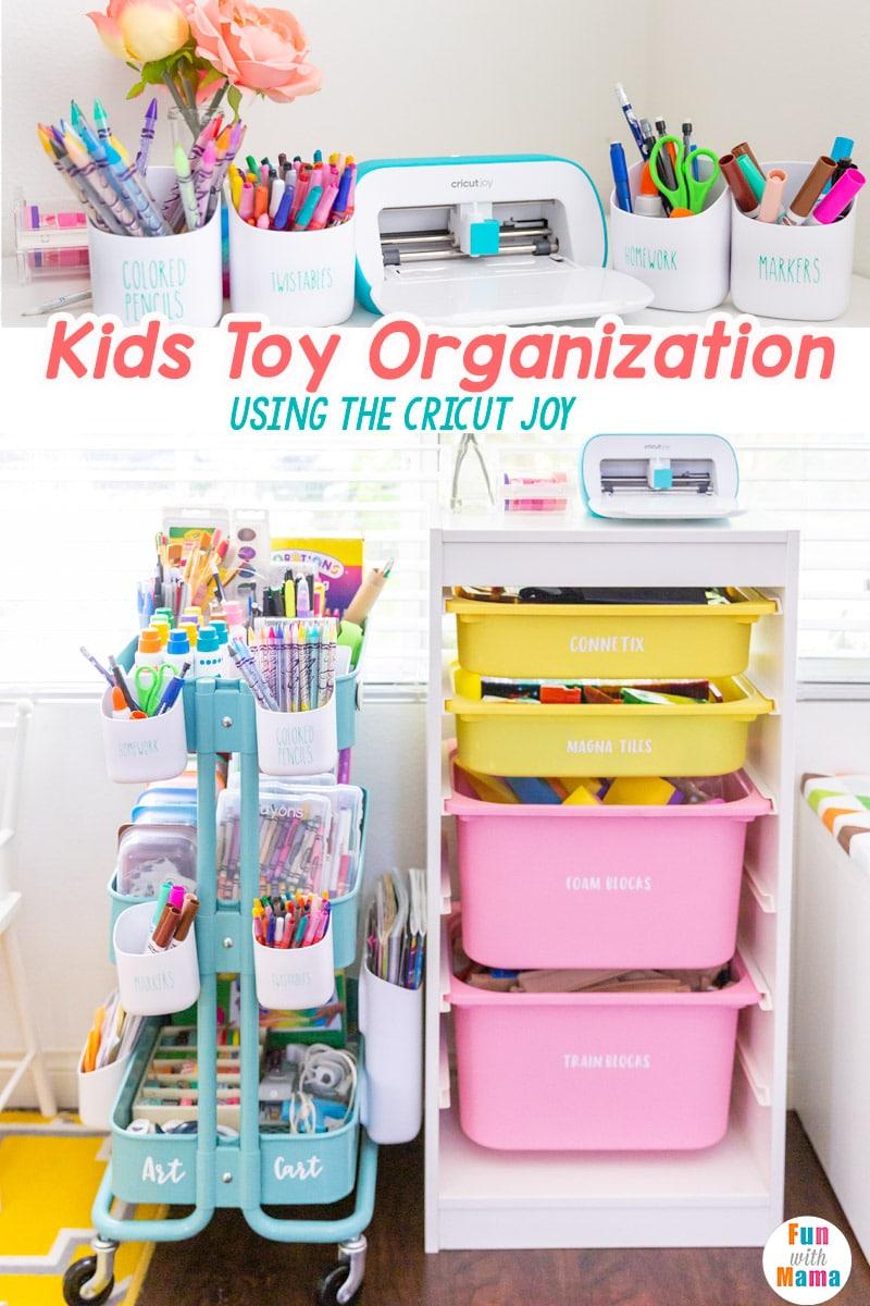 Kids Toy Storage With Cricut Joy Fun With Mama