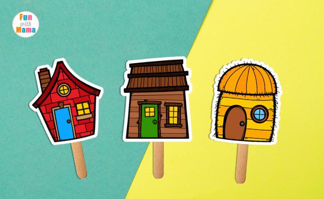 house stick puppets