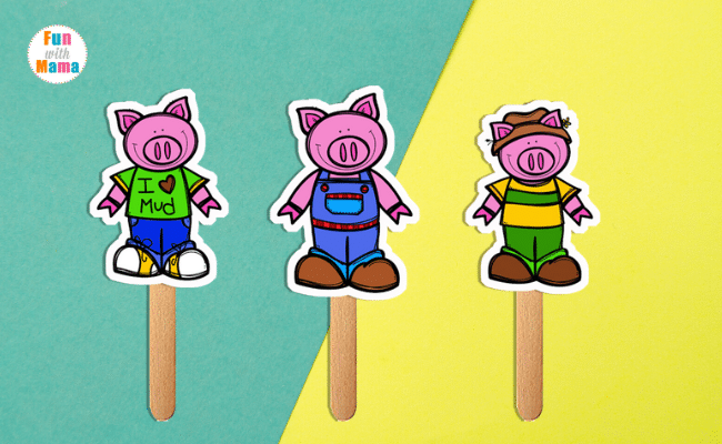 the three little pig puppets