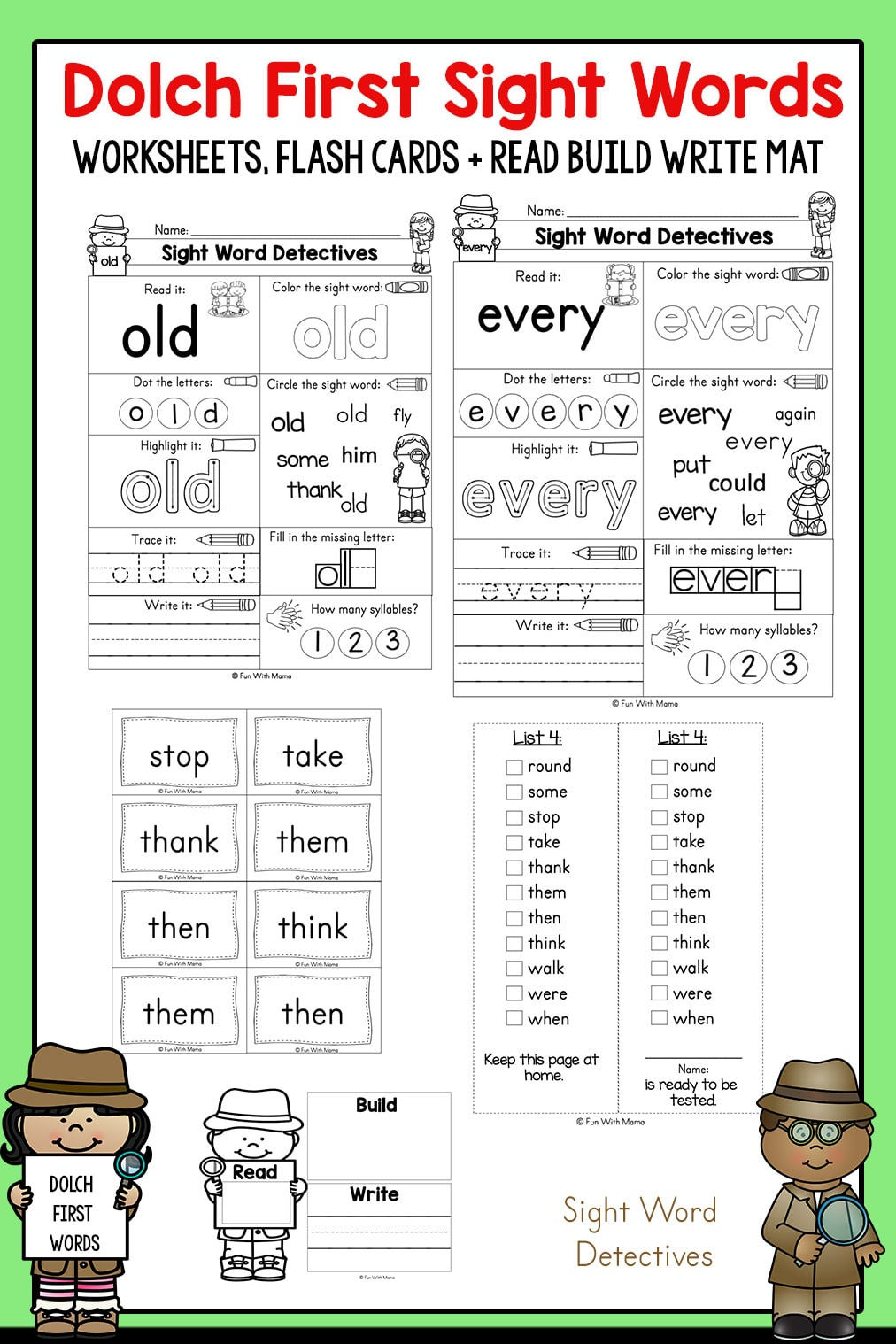 First Grade Sight Words - Interactive Worksheets for Kids