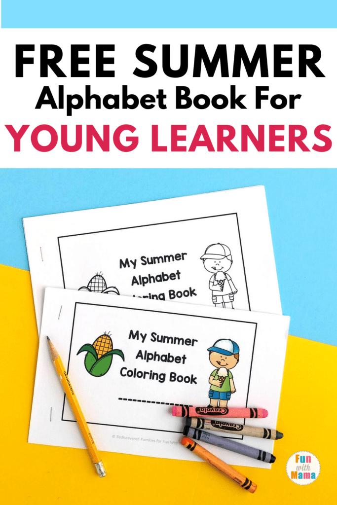 summer alphabet coloring book