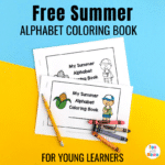 Alphabet-Themed Summer Coloring Pages Printable For Young Learners