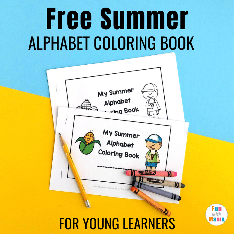 Alphabet-Themed Summer Coloring Pages Printable For Young Learners - Fun  With Mama