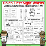 First Grade Sight Words – Interactive Worksheets for Learning