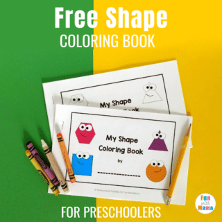 Free 2D Shape Coloring Book - Shape Coloring Pages For Preschoolers