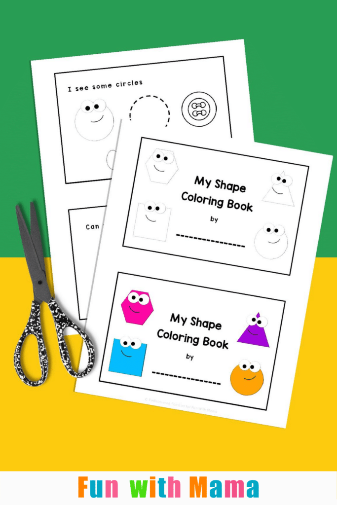 shape coloring pages and workbook