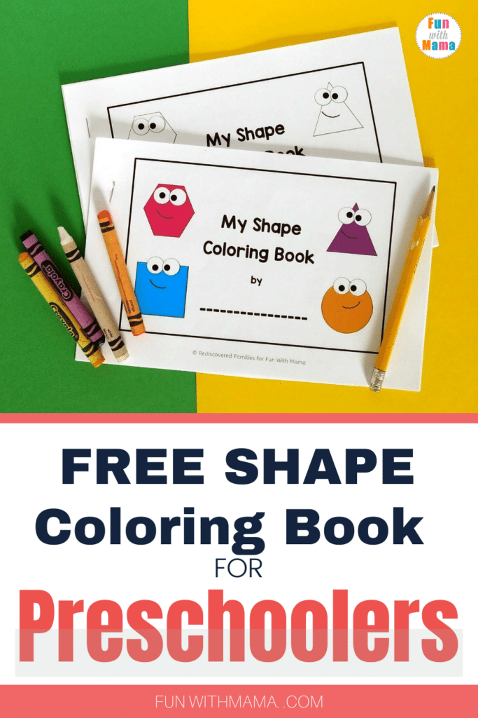 Free 2d Shape Coloring Book Shape Coloring Pages For Preschoolers Fun With Mama