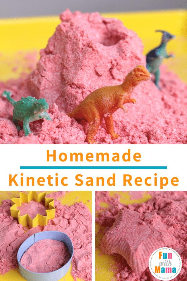 easy homemade kinetic sand recipe