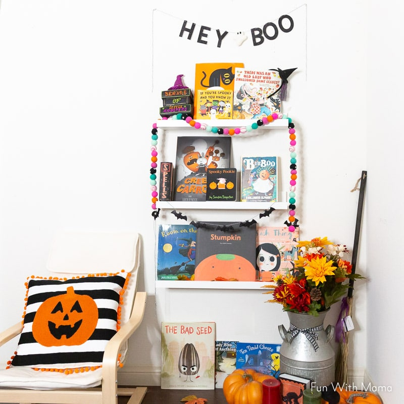 How to create a Halloween Book Nook - Spooky Fun Kids Reading Nook